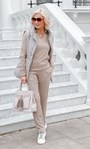 Soft Knitted Collared Top Tan - Gallery Image 1