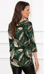 Leaf Printed Jersey Tunic Black/Kingfisher - Gallery Image 3