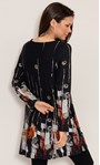 Abstract Border Print Knitted Tunic Black/Orange - Gallery Image 3