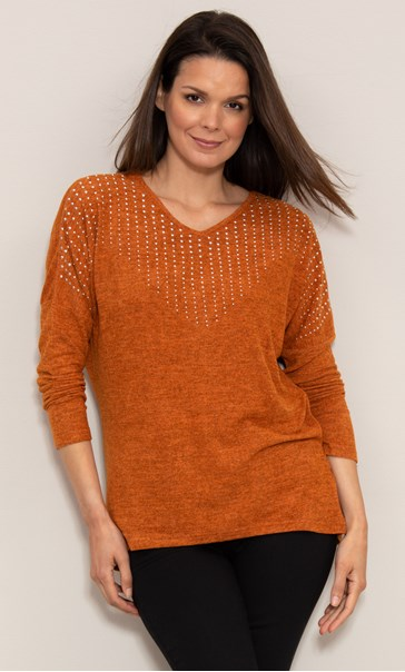 Embellished Knitted Tunic