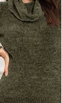Cowl Neck Long Sleeve Chenille Top Moss - Gallery Image 4