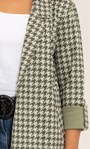 Open Front Suedette Dogtooth Jacket Khaki/Sage - Gallery Image 5
