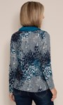 Anna Rose Printed Top With Scarf Navy Multi - Gallery Image 2