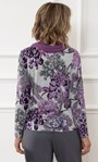 Anna Rose Brushed Top With Scarf Grey/Purple - Gallery Image 2