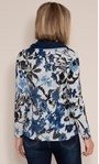 Anna Rose Brushed Top With Scarf Black/Grey/Blue - Gallery Image 2