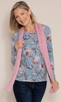 Anna Rose Printed Top With Scarf Steel Blue/Multi - Gallery Image 1