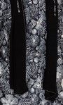 Anna Rose Print Coat With Scarf Black Floral - Gallery Image 4