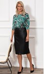 Faux Leather Pencil Skirt Black - Gallery Image 1