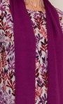 Anna Rose Printed Brushed Knit Top with Scarf Cranberry/Watermelon - Gallery Image 3