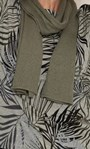 Anna Rose Leaf Printed Brushed Knit Top with Scarf Green - Gallery Image 6