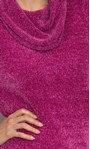 Cowl Neck Long Sleeve Chenille Top Cerise - Gallery Image 4