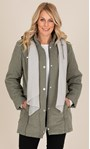 Anna Rose Coat With Scarf Khaki - Gallery Image 1