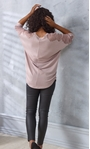 Embellished Lace And Knit Top Dusky Rose - Gallery Image 3