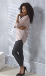Embellished Lace And Knit Top Dusky Rose - Gallery Image 4