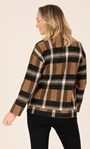 Funnel Neck Cosy Top With Pockets Black/Tan - Gallery Image 6