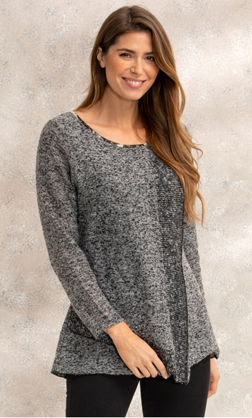 Mock Wrap Over Knitted Top