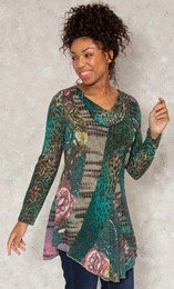 Panel Print Knitted Tunic
