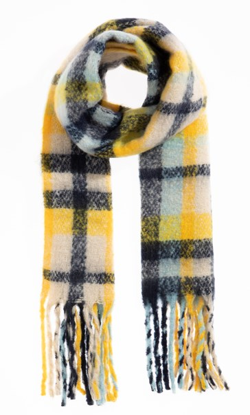 Checked Scarf - Yellow